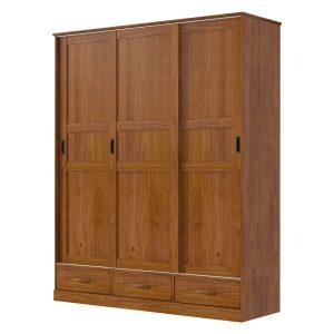 Skriňa 3-dverová ONIX hnedá