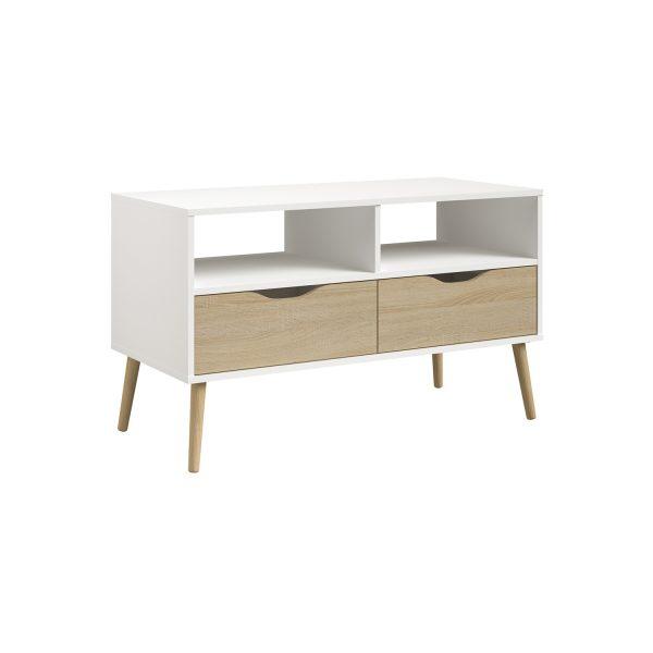 TV stolík NORSK 2 dub/biela