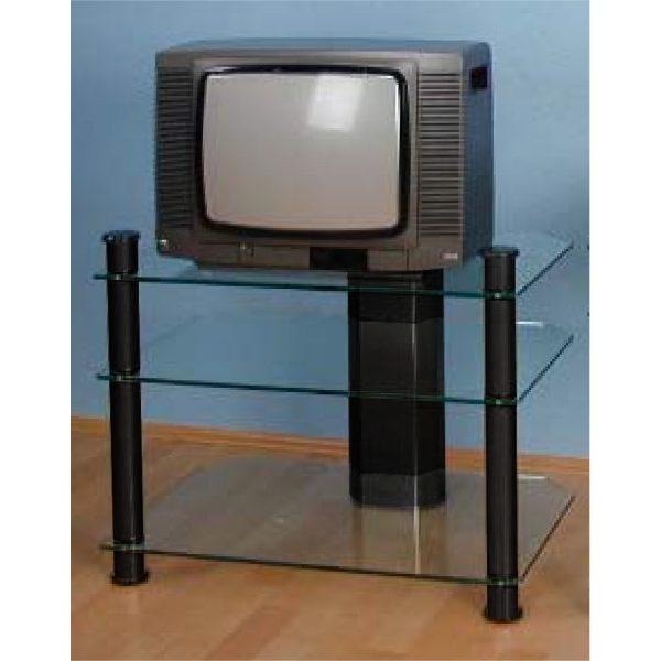 TV stolík sklo/čierna