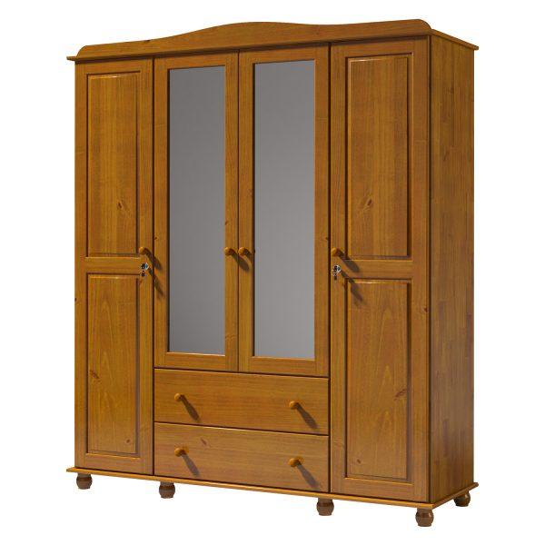 Skriňa 4-dverová GRAND PRIX hnedá