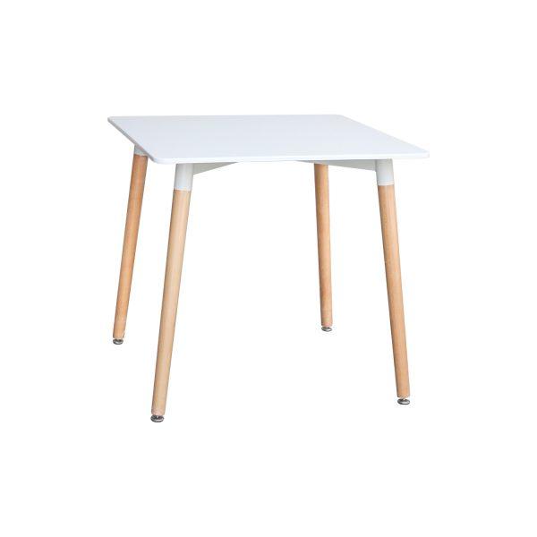 Jedálenský stôl 80x80 UNO biely
