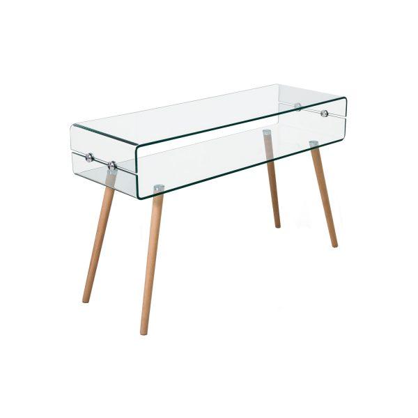 Odkladací stolík sklo/buk