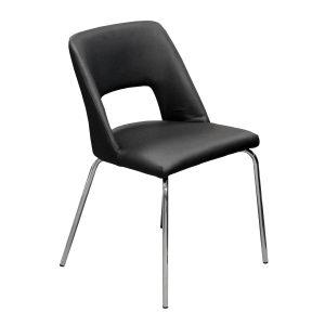 Jedálenská stolička čierna