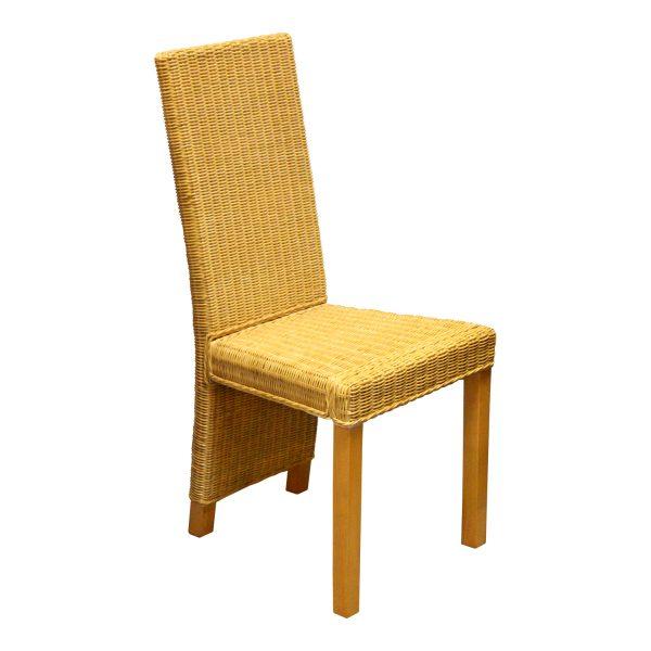 Jedálenská stolička ratan béžová