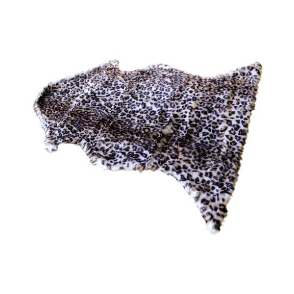 Prehoz kožušina imitácia leopard