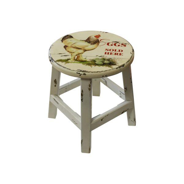 Stolička biela/sliepka antik