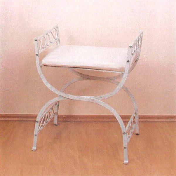 Kovová stolička biela/zlatá