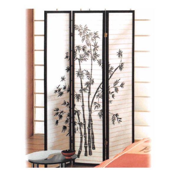 Paraván Bambus čierny