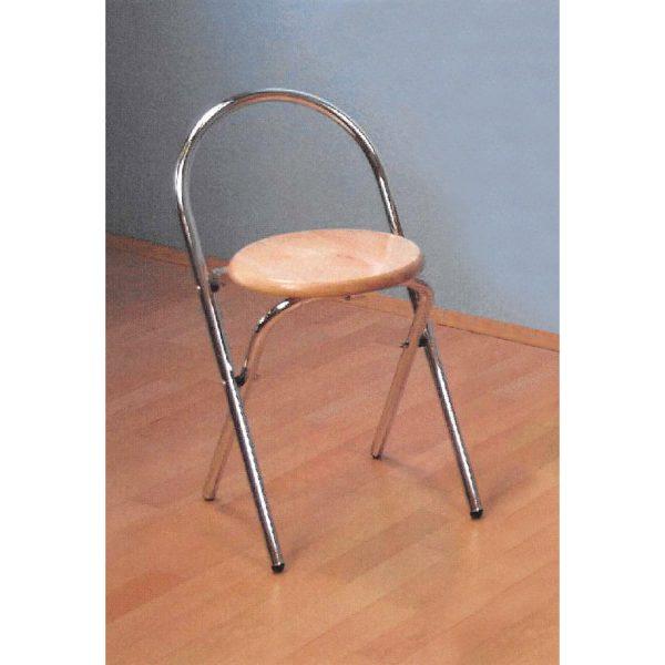 Skladacia stolička chróm/buk