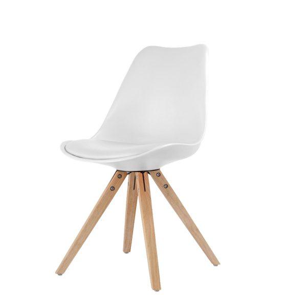 Jedálenská stolička LADY biela