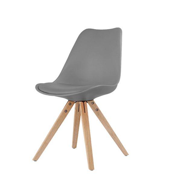 Jedálenská stolička LADY sivá