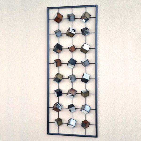 Nástenná dekorácia kov čierna