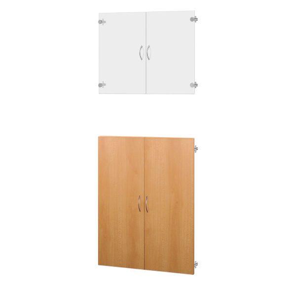 Sklenené a drevené dvere 30A buk