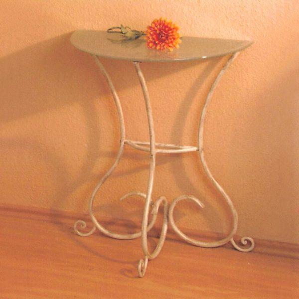 Odkladací stolík béžová/zlatá antik