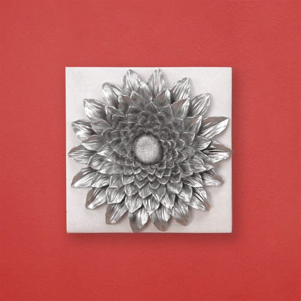 Slnečnica dekorácia strieborná