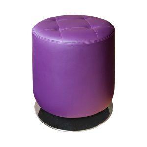 Stolička okrúhla fialová
