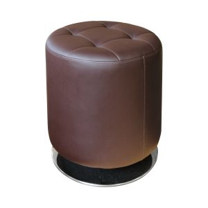 Stolička okrúhla hnedá