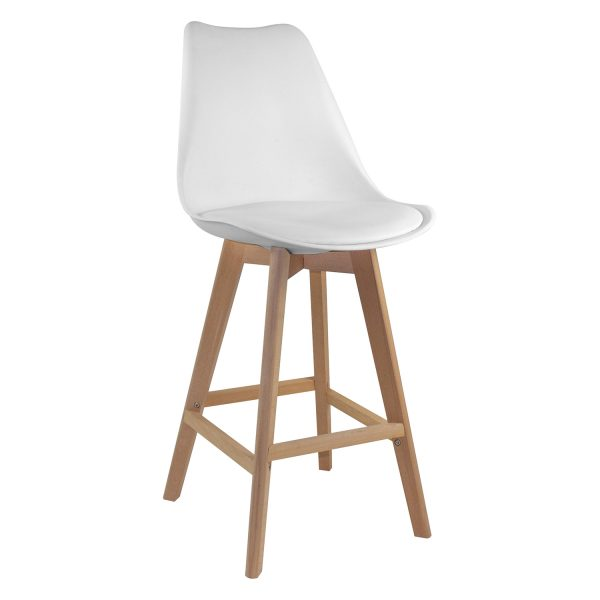 Barová stolička QUATRO biela