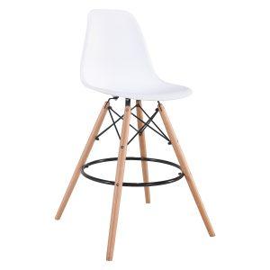 Barová stolička UNO biela