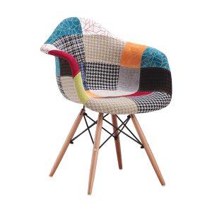 Jedálenská stolička DUO patchwork farebná