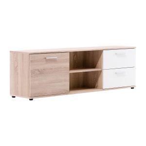 TV stolík LUND 55 dub/biela