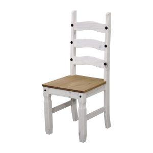 Stolička CORONA biely vosk