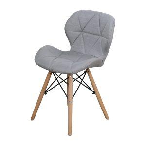 Jedálenská stolička ALFA sivá látka