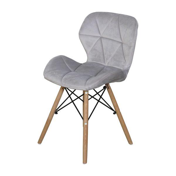 Jedálenská stolička ALFA sivý zamat