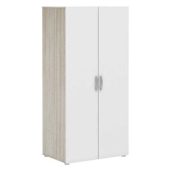 Skriňa 2-dverová NANO dub/perleťovo biela
