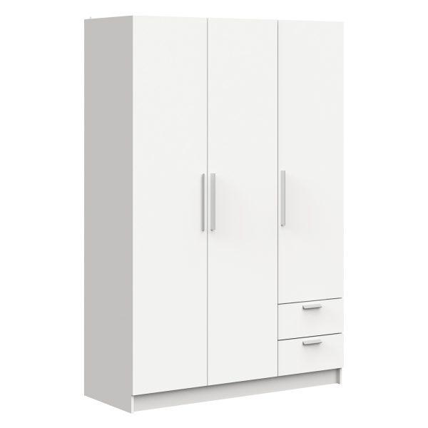 Skriňa 3-dverová GLORY biela
