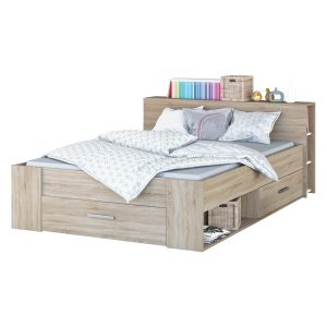 Multifunkčná posteľ 160x200 POCKET dub