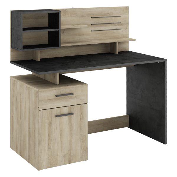 Písací stôl MALICIA dub/čierny antik