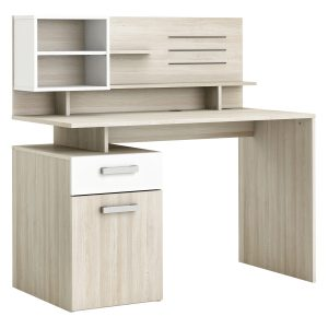 Písací stôl MALICIA dub/perleťovo biela