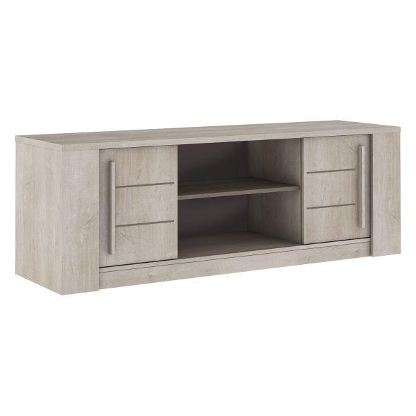 TV stolík ANTIBES dub/béžový betón
