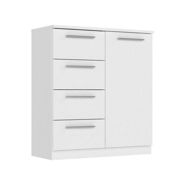 Komoda 1 dvere + 4 zásuvky SURREY biela