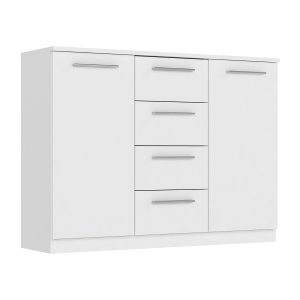 Komoda 2 dvere + 4 zásuvky SURREY biela