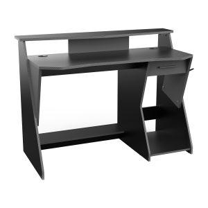 PC stôl SKIN sivý/čierny