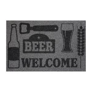 Rohožka Beer/Welcome sivá