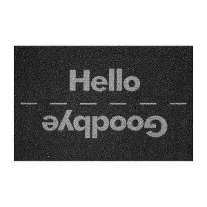 Rohožka Hello/Goodbye čierna