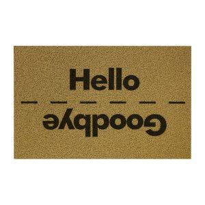 Rohožka Hello/Goodbye béžová