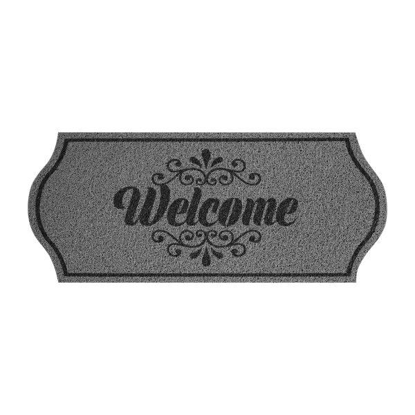 Rohožka Welcome sivá