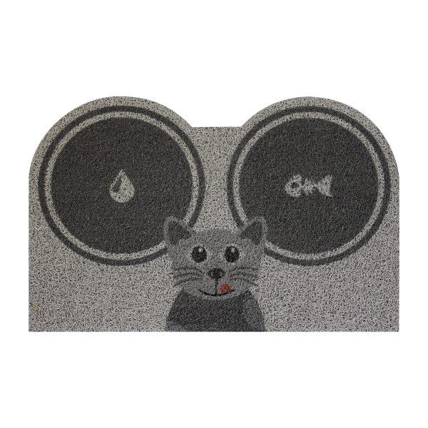Rohožka/podložka na kŕmenie Mačka sivá