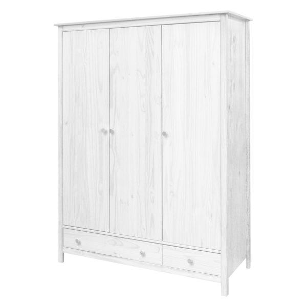 Skriňa 3-dverová TORINO biela