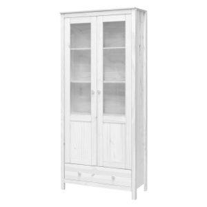 Vitrína 2 dvere + 1 zásuvka TORINO biela